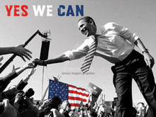 Barack Obama - Yes We Can (crowd) (12 x 16in) Art Poster