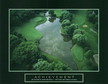 Achievement - Golf Course Art Poster
