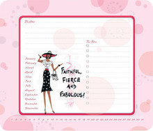 Faithful, Fierce, Fabulous Memo Mouse Pad
