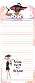 Faithful, Fierce and Fabulous Magnetic Note Pad & Pen Set