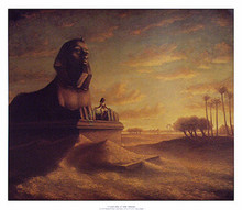 Cleopatra at the Sphinx  Art Print - Tim Ashkar
