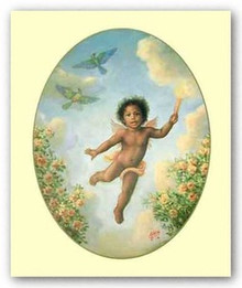 Little Cherub  Art Print - Tim Ashkar