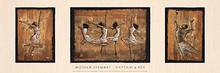 Rhythm & Joy [triptych] Art Print - Monica Stewart
