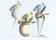 1,2,3  Art Print - Patrick Ciranna