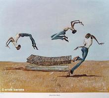 Head Over Heels Art Print - Ernie Barnes
