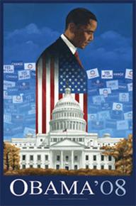 Barack Obama 08 Art Print