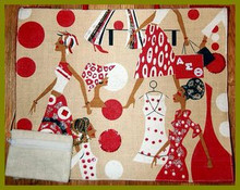 Red & White Lady Diva Tote Bag