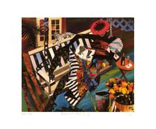 Woman on Porch Swing Art Print - Gigi Boldon