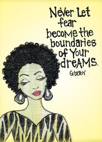 Never Let fear become the boundaries of your dreams Magnet