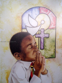Give Praise 12x16--Kenneth Gatewood