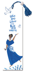 Love And Light In Blue And White Bookmark--Cidne Wallace