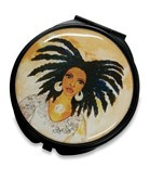 Nubian Queen Pocket Mirror Case--GBABY
