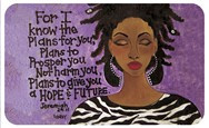 For I Know The Plans African American Floor Mat--GBABY