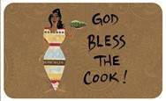 God Bless The Cook African American Floor Mat--Cidne Wallace