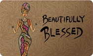 Beautifully Blessed African American Floor Mat--Cidne Wallace
