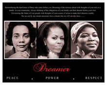 Dreamer (Trio): Peace, Power, Respect 16 x 20 Art Print