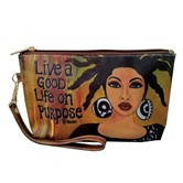 Live A Good Life On Purpose Cosmetic Pouches--GBaby