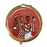 Red Sistas! Compact Mirror --Kiwi McDowell