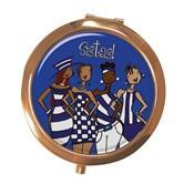 Blue Sistas! Compact Mirror --Kiwi McDowell