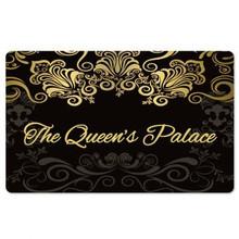 Black The Queen's Palace Interior Floor Mats