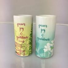 Peace, Joy & Gratitude Salt & Pepper Shakers--Sharyn Sowell