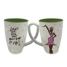 God Has Sho Nuff Been Good to Me! Latte Mugs-- Kiwi McDowell