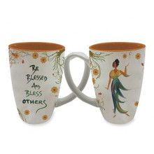 Be Blessed and Bless Others Latte Mug--Cidne Wallace