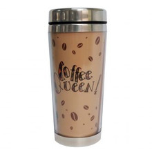 Coffee Queen Travel Mugs--Kiwi McDowell,