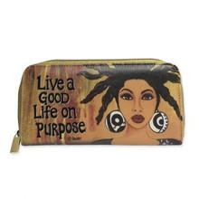 "Live A Good Life On Purpose Long Wallets-- Sylvia ""GBaby"" Cohen"