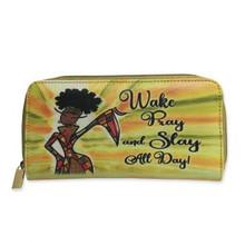 Wake Pray Slay All Day Long Wallets-- Kiwi McDowell