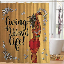 Living My Blessed Life Designer Shower Curtain-- Kiwi McDowell