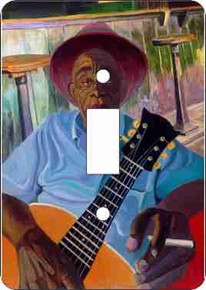 Mississippi John Hurt Single Light Switch Cover--Dane Tilghman