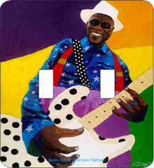 Buddy Guy Double  Light Switch Cover--Dane Tilghman