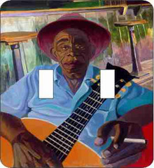 Mississippi John Hurt Double Light Switch Cover--Dane Tilghman