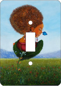 Growth of a Woman Double Light Switch Cover--Oronde Kairi