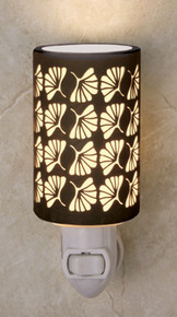 GINKGO LEAF Silhouette Porcelain Night Lights