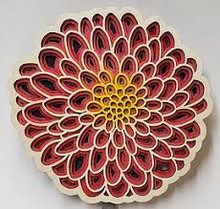 Dahlia Set of 4 Coaster --Pink