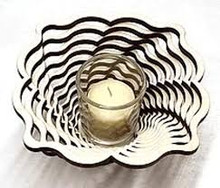 "Damask 9"" Votive--Baltic By Design"