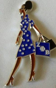 Zeta Phi Beta Devoted Greek Lady Diva Lapel Pin