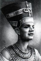 Nefertiti Art Print--JC Bakari