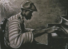 Late Night Study Limited Edition Art print--Cbabi Bayoc