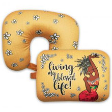 Living My Blessed Life Convertible Neck Pillow--Kiwi McDowell