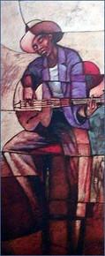 Blues Man-Sidney Art Print--Sidney Carter