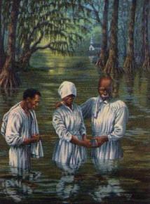 Baptism  Art Print-- Janice Huse
