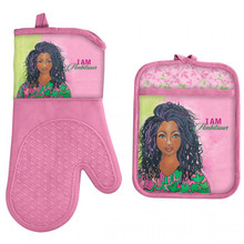 I Am Ambitious Oven Mitt and Potholder set--GBaby