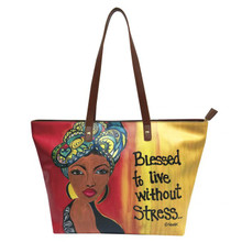 """Blessed To Live Without Stress Handbags--Sylvia""""GBaby""""Cohen"""