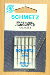 Schmetz Jeans Household Sewing Machine Needles (130/705 H-J)