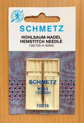 Schmetz Hemstitch Sewing Machine Needles (130/705 H-WING)