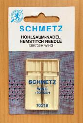 Schmetz Hemstitch Sewing Machine Needles (130/705 H-WING)