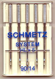 Schmetz Quilter's sewing machine needles (HL X 5)
